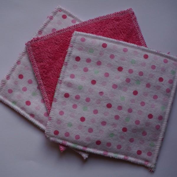 Lingettes lavables bébé flanelle coton