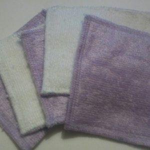 Lingettes lavables bébé bambou microfibre