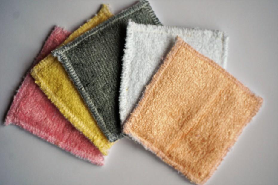 Lingettes lavables démaquillantes bambou micro-fibre
