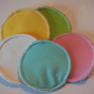 coussinets d'allaitement lavables imperméables unis