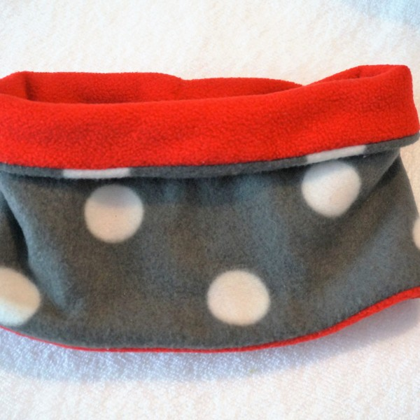 snood rouge pois
